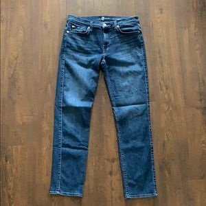 7 For All Mankind Roxanne Cropped Jeans 31
